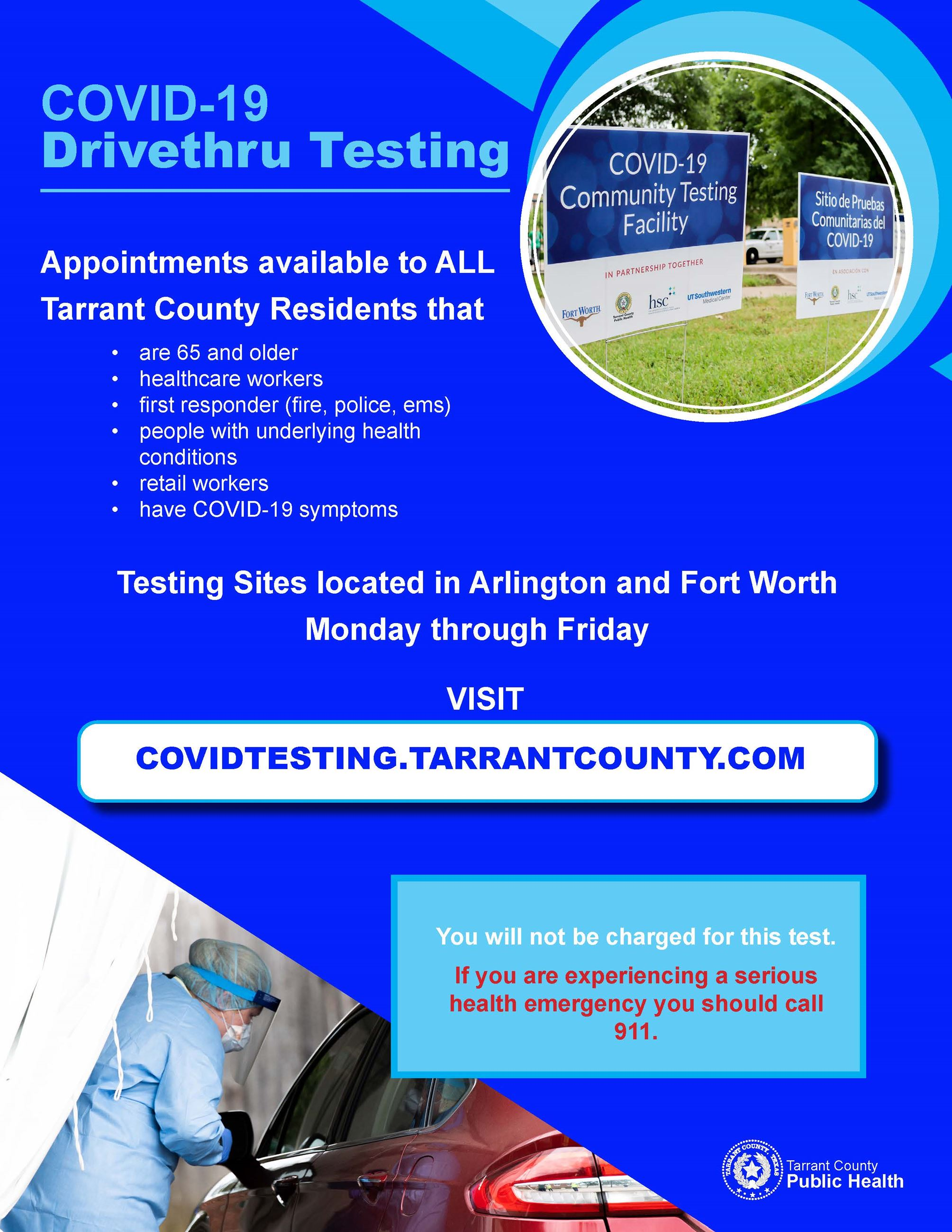 COVID Testing Site Flyer May 2020 Opens in new window